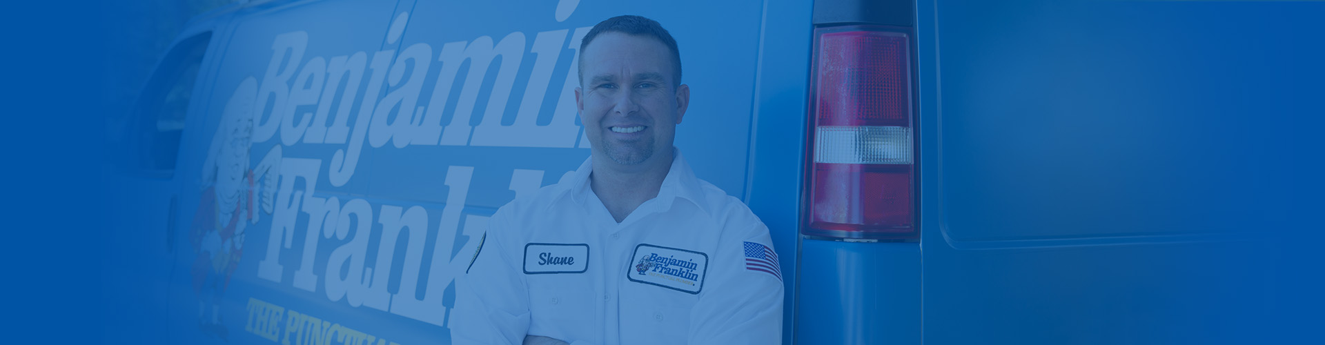 Ben Franklin Duncanville Plumbing Tech ready to help any plumbing issue.
